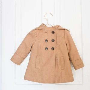 Kids Old Navy Pea Coat wool double breasted jacket